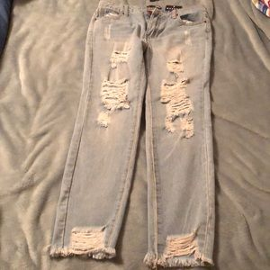 Fashion Nova Dear Momma distressed Ankle Jeans
